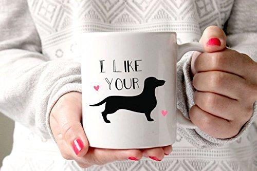 taza divertida me gusta tu weiner 11 oz taza de café o té