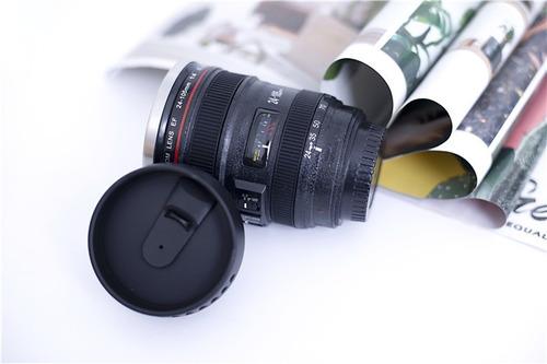 taza en forma de lente de cámara 28-135