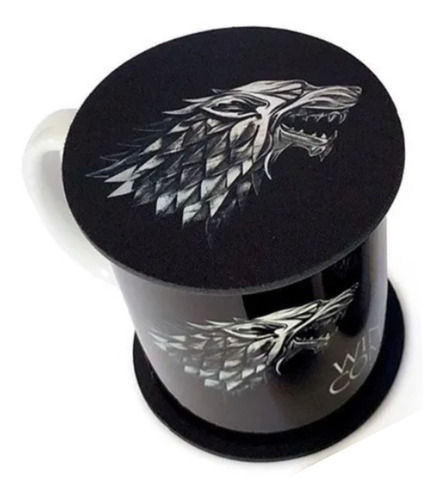 taza game of thrones con portavaso