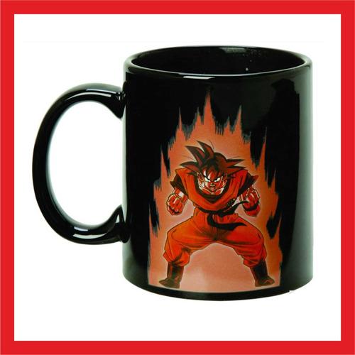 taza goku, dragonball z taza ceramica reactiva