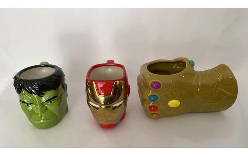 taza jarro cerámica thanos iron man  hulk