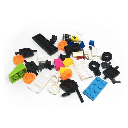 taza lego incluye monito y bloques (10 colores diferentes)
