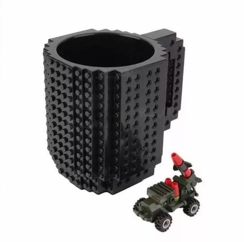taza lego para encastrar y jugar build on diseño original