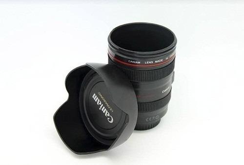 taza lente mug con tapa grande para galletitas - micromaster
