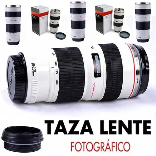 taza lente térmica cámara mug geek fotográf + estuche gratis