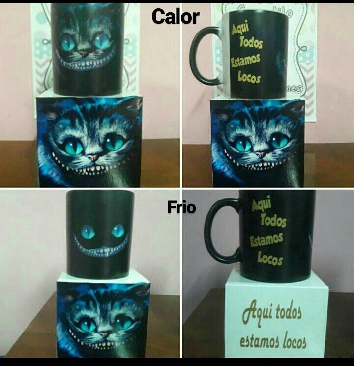 Taza Magica 3d Gato Cheshire Alicia Pais De Las Maravillas