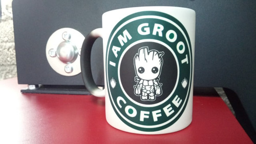 taza magica baby groot guardianes galaxia t/ starbucks quill