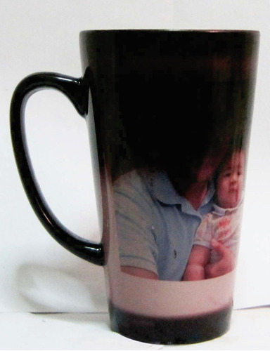 taza magica conica grande taza personalizada foto