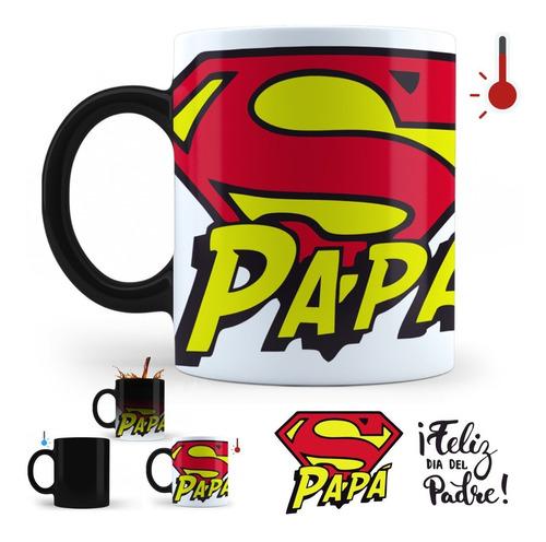 taza mágica día del padre | super papá regalo perfecto