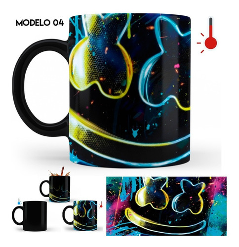 taza mágica dj marshmello varios diseños
