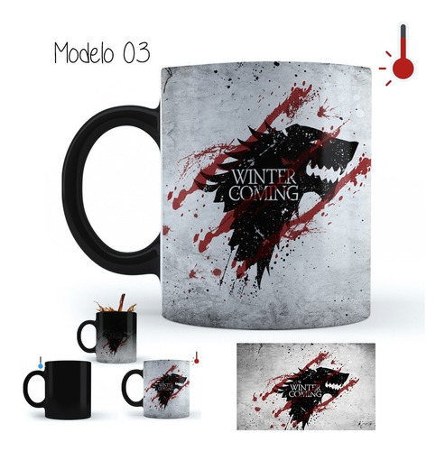 taza mágica game of thrones winter is coming