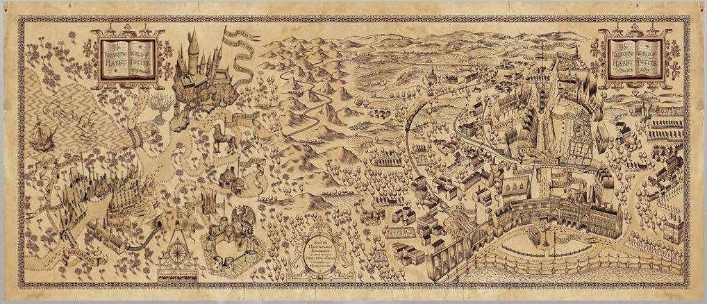 mapa harry potter Taza Magica Harry Potter Mapa Del Merodeador 2 100% Lanus   $ 360  mapa harry potter