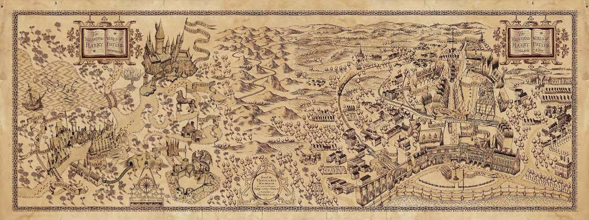 mapa de hogwarts Taza Mágica Harry Potter Mapa Hogwarts Diagon Alley   $ 149.00 en  mapa de hogwarts