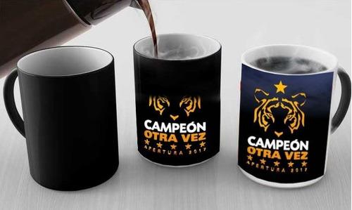 taza mágica negra conmemorativa tigres campeón 2017