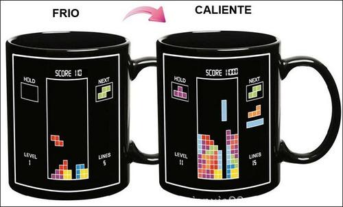 taza magica, pacman, tetris, cambia con calor!