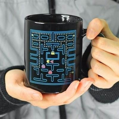 taza magica termosensible pacman cambia color pac man regalo