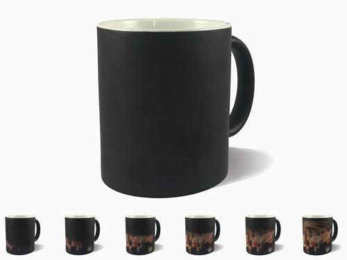 taza mágica tlp negro brillante 11oz para sublimar 36 piezas m