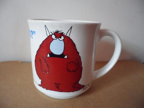 taza monster one lump or two souvenir japon papel