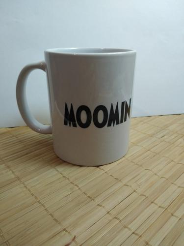 taza moomin enojado y 1 boton gratis