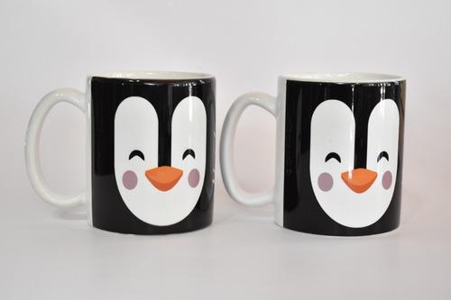 taza mug 325 ml pinguino mundo marino promo *2 unidades