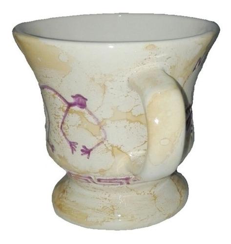 taza nasca perú relieve 8 cm adorno hogar decoracion salud