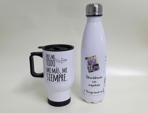 taza o botella térmica medio litro personalizada
