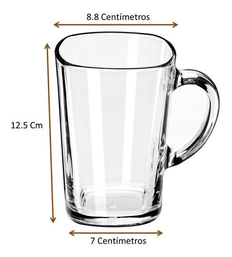 taza para capuchino de vidrio cap. 473 ml 6 pz incluye envío