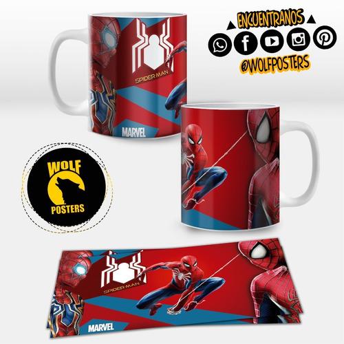 taza personalizada 11 onz de spiderman / personajes marvel