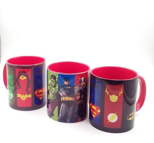 taza personalizado con los super heroes
