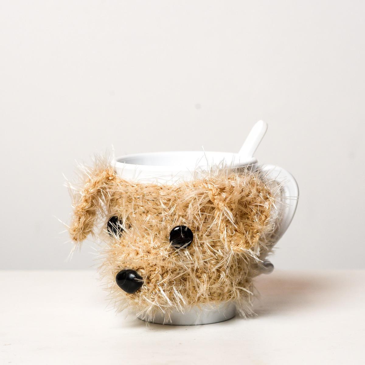 Taza Plástica Con Funda Tejida Crochet Modelo Perro - $ 250,00 en ...