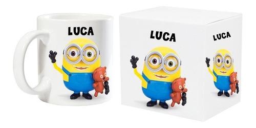 taza polimero plastica personalizada foto nombre con caja