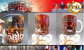 Taza Roblox Importada Sublimada Punto Pixel - roblox coca cola man