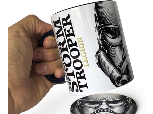 taza stormtrooper legion con portavaso