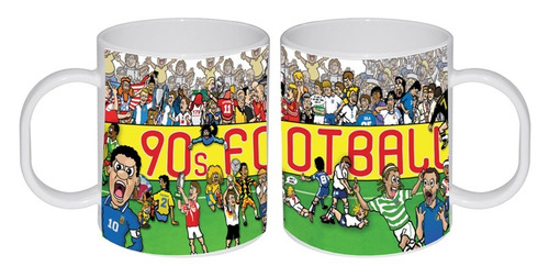 taza sublimada futbol 90s