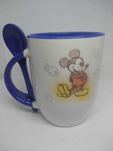 taza sublimada mickey mouse con cuchara