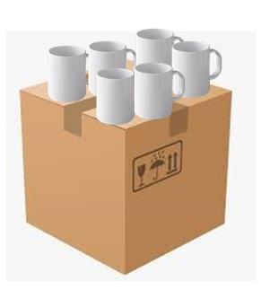 taza sublimar caja con 60 piezas