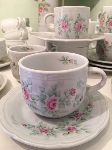 taza te porcelana pintada a mano