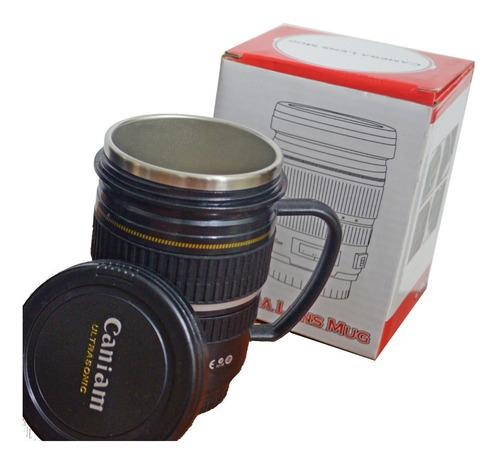 taza térmica lente de cámara, con asa, 200ml