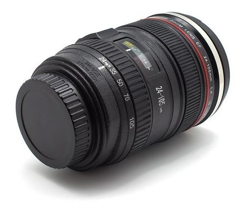 taza termo acero inoxidable en forma de lente de cámara