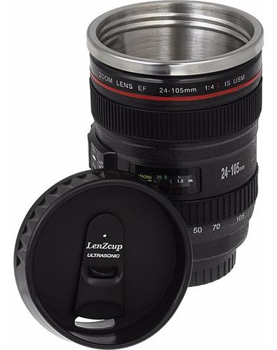 taza termo en forma de lente de cámara 24-105 mm dosificador