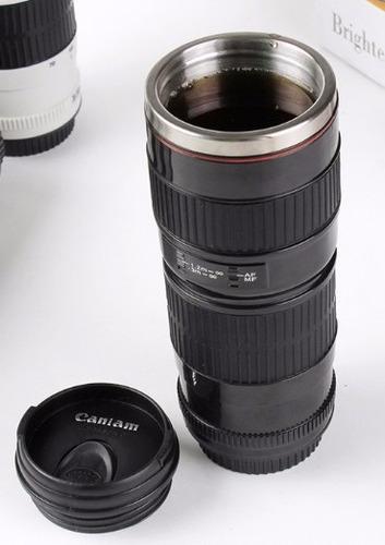 taza termo estilo lente de cámara canon 70-200