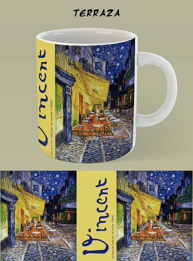 Taza Terraza De Cafe De Van Van Gogh