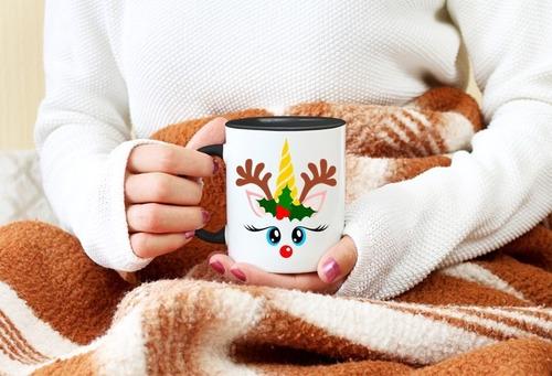 taza unicornio, navidad, caja de regalo  5 c/envio