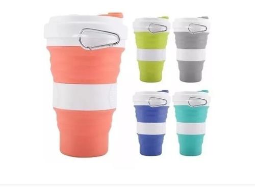 taza vaso termo 550 ml plegable silicon ecologico portatil