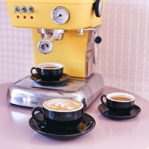 taza y plato de colores ideal arte latte 250 ml - linea oslo