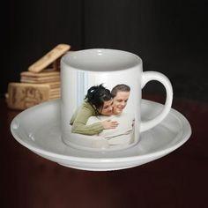 taza y plato de polimero 6oz para sublimacion set taza+plato