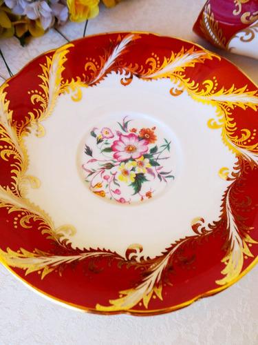 taza y plato paragon.con oro, inmaculado.porcelana inglesa