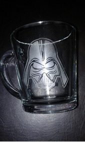 Star Wars Darth Vader taza vasos de vidrio Premium