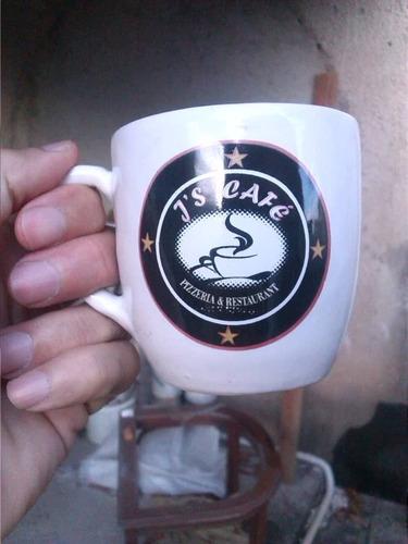 tazas café con leche o te con plato