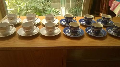 tazas de cafe express, diseños oriental, porcelana fina